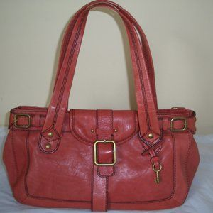 Light Firebrick Cowhide Leather Tote